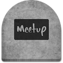 grey, Meetup, gray, Creepy, rock, grave, October, spooky, witch, graveyard, Boo, media, scary, evil, ghosts, Cold, tombstone, tomb, Social, halloween, social media, Stone DarkGray icon