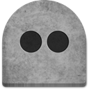 rock, flickr, social media, Cold, Creepy, media, grave, scary, gray, witch, Social, Stone, grey, tomb, tombstone, halloween, Boo, graveyard, October, evil, spooky, ghosts DarkGray icon