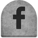 grey, October, spooky, gray, Facebook, Creepy, media, Social, social media, grave, witch, Stone, scary, halloween, Boo, tomb, graveyard, tombstone, Cold, evil, ghosts, rock DarkGray icon