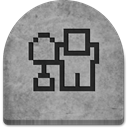 grey, tomb, Cold, gray, ghosts, rock, halloween, graveyard, Stone, witch, Social, social media, scary, Boo, media, evil, October, Creepy, grave, spooky, digg5, tombstone DarkGray icon