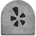 rock, Yelp, Stone, gray, tomb, Cold, grey, witch, Social, Creepy, grave, October, spooky, tombstone, evil, ghosts, graveyard, social media, Boo, halloween, media, scary DarkGray icon