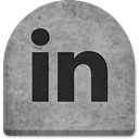 Social, graveyard, Cold, Creepy, tombstone, October, spooky, media, grave, social media, Stone, witch, scary, evil, ghosts, halloween, gray, tomb, rock, Linkedin, grey, Boo DarkGray icon