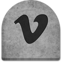 graveyard, halloween, grave, media, Cold, Boo, scary, tomb, tombstone, Vimeo, evil, ghosts, social media, Stone, witch, Social, grey, gray, October, Creepy, spooky, rock DarkGray icon