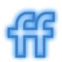 Fiendfeed, Social, neon, media, set DodgerBlue icon