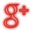 Social, set, google, neon, media Crimson icon