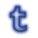 media, Social, Tumblr, neon, set DarkSlateBlue icon