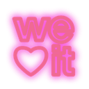 set, Social, media, Weheartit, neon Orchid icon