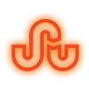 set, Social, Stumbleupon, neon, media DarkOrange icon
