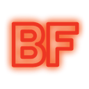 media, set, neon, Social, Buzzfeed OrangeRed icon
