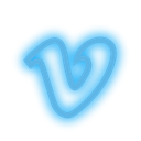 Social, set, media, Vimeo, neon DeepSkyBlue icon