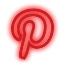 neon, set, Social, media, pinterest Red icon