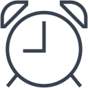 Alert, Alarm, Clock, time, timer, Attention, stopwatch Black icon