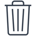 Trash, delete, remove, recycle, Empty, Bin, out Black icon