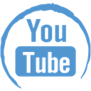 youtube, Social, Stamp CornflowerBlue icon