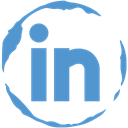 Social, Linkedin, Stamp CornflowerBlue icon