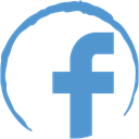 Stamp, Social, Facebook CornflowerBlue icon