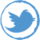 Stamp, twitter, Social CornflowerBlue icon