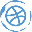 dribbble, Stamp, Social CornflowerBlue icon