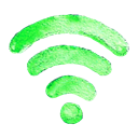 wi-fi, internet, web Black icon
