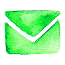 Contact, mail, Address, Letter LimeGreen icon