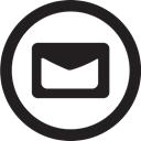 round, Contact, Message, Email, mail, linecon Black icon