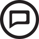 round, linecon, Message, Comment, reply Black icon