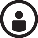 round, user, name, username, linecon Black icon