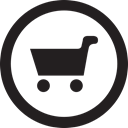 linecon, round, Products, Cart Black icon
