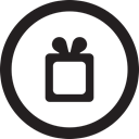 wishlist, free, round, wish, linecon Black icon