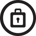 password, pass, linecon, round, Lock, safety Black icon
