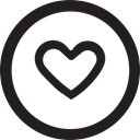 Like, Favourite, linecon, Heart, round Icon