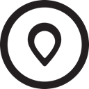 Map, linecon, round, location, place, pin Icon