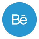 Behance DodgerBlue icon