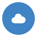 Cloud SteelBlue icon
