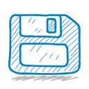 sketchy, Floppy, storage, Sketch, Disk Black icon
