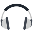 Communication, electronic, Audio, entertainment, Device, Computer, Headphone Black icon
