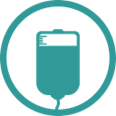 transfusion, infusion, health, Blood LightSeaGreen icon