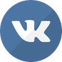russian, Circle, Social, Vk SteelBlue icon