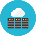 Database, Cloud LightSeaGreen icon