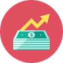 increase, Money IndianRed icon