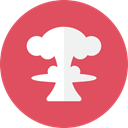 Mushroom, nuclear IndianRed icon