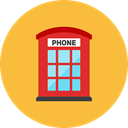Booth, phone SandyBrown icon