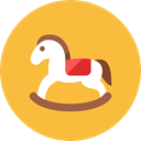 horse, wooden SandyBrown icon