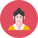 woman IndianRed icon