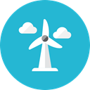 wind, wheel LightSeaGreen icon