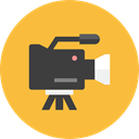2, Camera, video SandyBrown icon