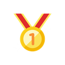medal, 2 Black icon