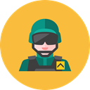 soldier, 3 SandyBrown icon