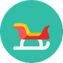 sled, santa LightSeaGreen icon