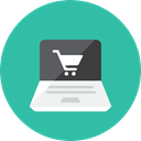 shopping, online LightSeaGreen icon
